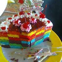 Resep Rainbow Cake Ny. Liem oleh Resi Anggraeni - Cookpad