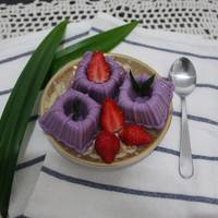 puding santan ubi ungu