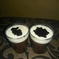 Puding coklat vla vanila