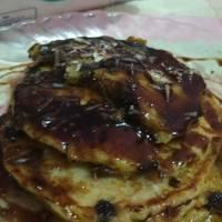 Pancake cheese choco banana