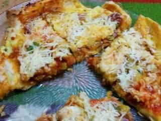 Foto masakan dari Pizza Roti Tawar ala rice cooker