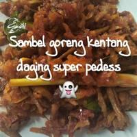 Sambal goreng kering kentang pedess