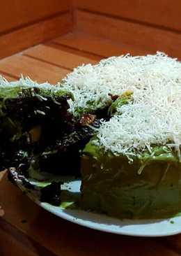 Brownies chocholatos avocado glaze green tea
