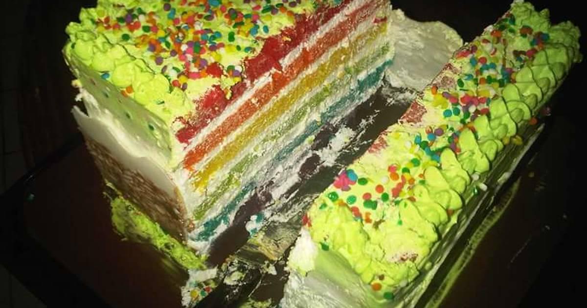 Resep Rainbow Cake Kukus