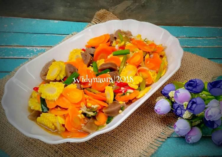Tumis putren wortel bakso