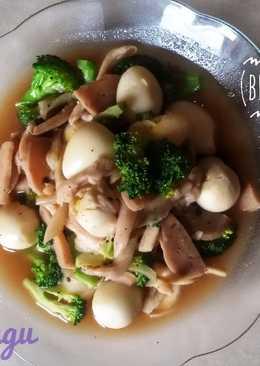 Brokoli Jamur Bakso Telur Puyuh