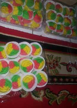 Bolu Mawar rainbow