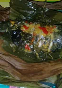 Pepes ikan Mas daun kemangi