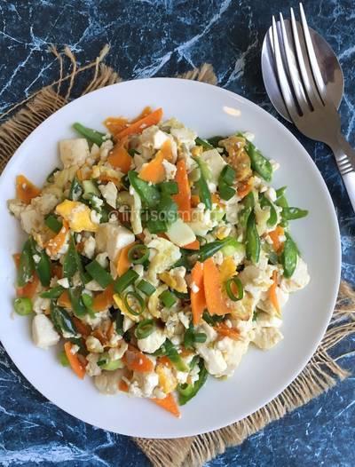 Orak Arik Tahu sayuran