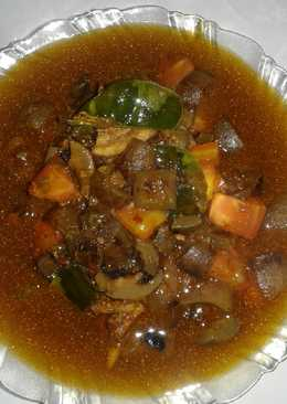 Kikil kuah pedas (masakan rumah sederhana)