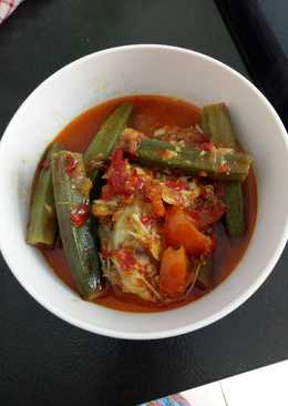 Asam pedas kakap merah with okra 😋