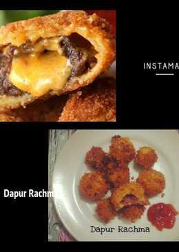 Burger Keju Cincin Bawang Bombay