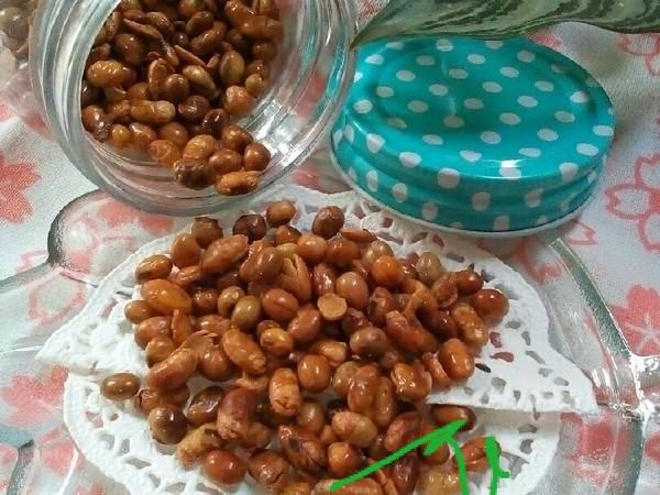 Kedelai Goreng (pelengkap soto Bandung, nasi kuning/uduk)