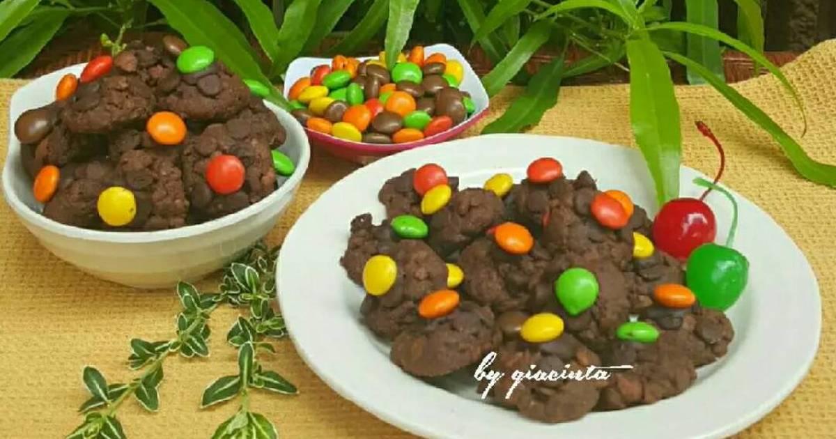 Resep Kukis Coklat Renyah (Chocolate choco crunch cookies)