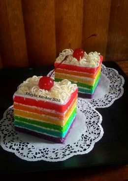 Rainbow Cake Kukus Ny.Liem Super Lembut
