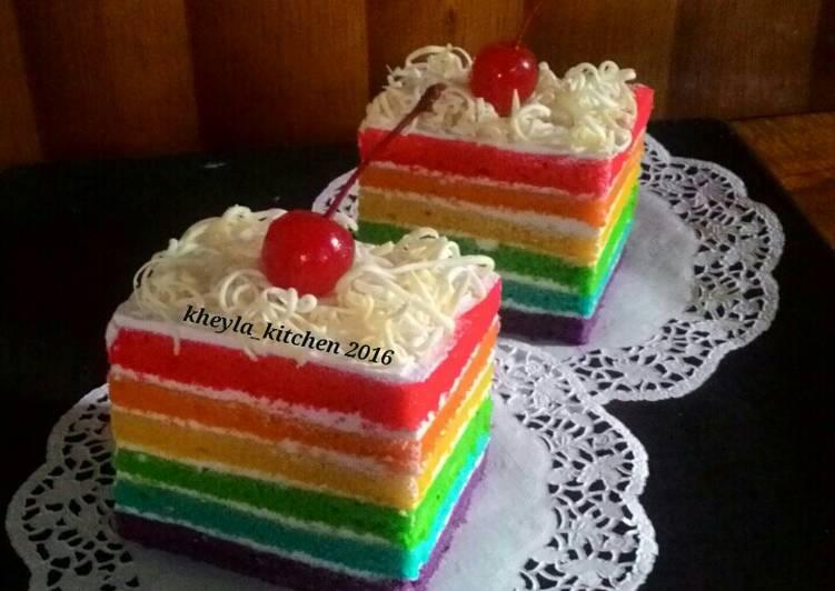 Resep Cake Kukus Hesti Kitchen: Resep Rainbow Cake Kukus Ny.Liem Super Lembut Oleh Kheyla