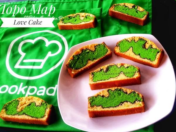 Topo Map Love Batter Cake