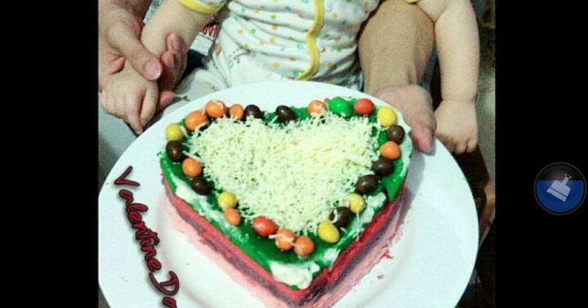Resep Rainbow cake kukus Ny.Liem edisi VALENTINE ala mommy