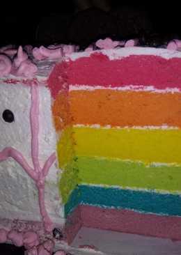 Rainbow cake (kukus)