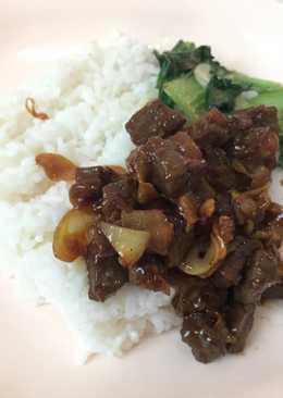 Beef teriyaki + sayur pakcoy