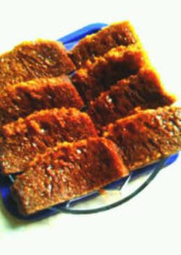 Bolu sarang semut (cake karamel)