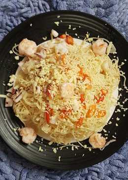 Indonesian Seafood Aglio Olio