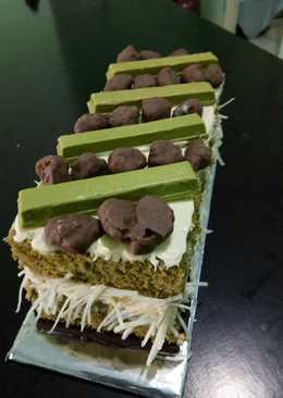 Cake green tea kukus