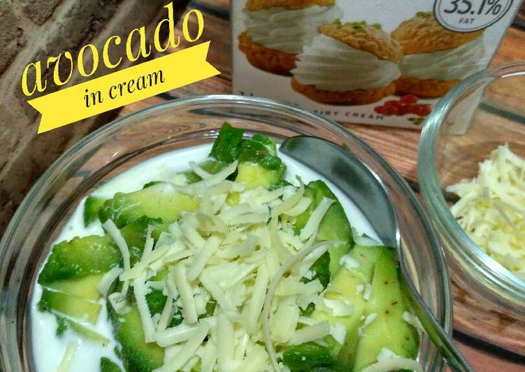Avocado in cream #Ketopad