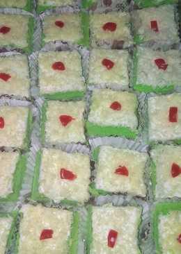 Cake potong pandan keju