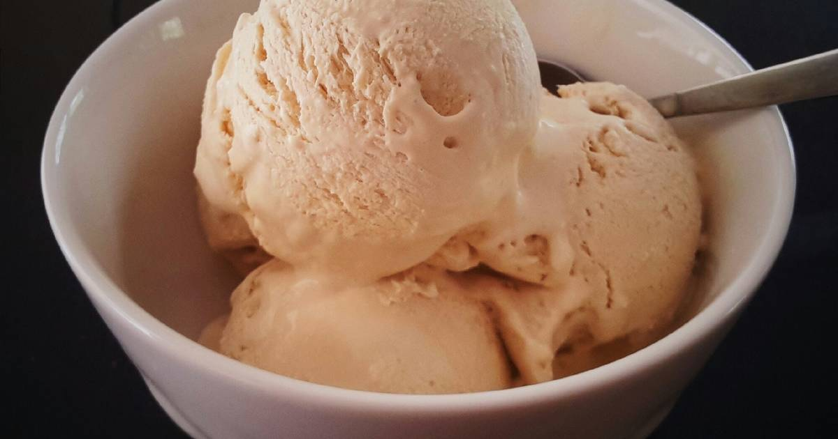 Resep Simple Homemade Coffee Ice Cream