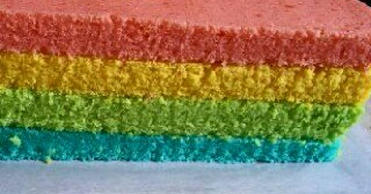 Resep Steamed Rainbow Cake (Rainbow Cake Kukus) with Tips and Trik