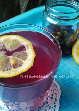 Teh Telang Madu Jahe | Minuman Hangat