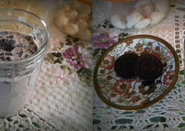 resep lengkap untuk Milkshake Chocolate Oreo