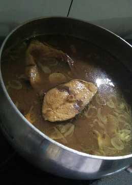 Ikan tongkol kuah kuning (ikan masak)