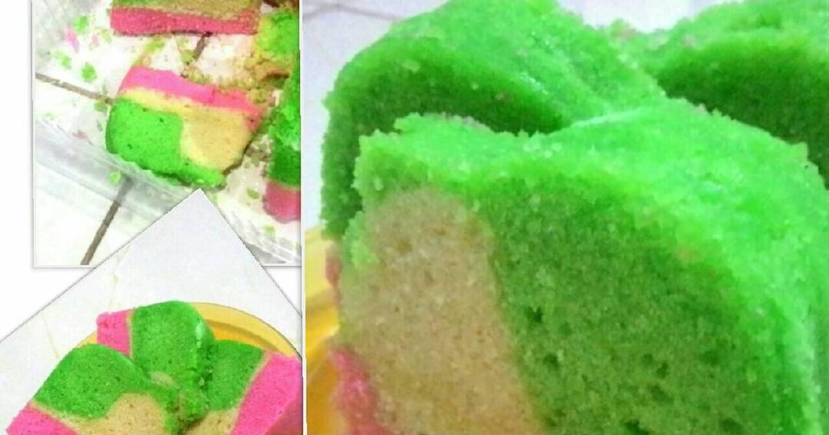 Resep bolu rainbow 3 warna