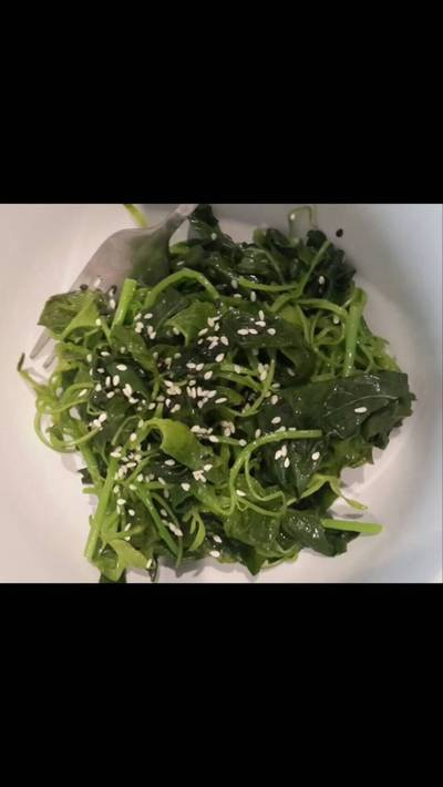 Salad bayam kukus
