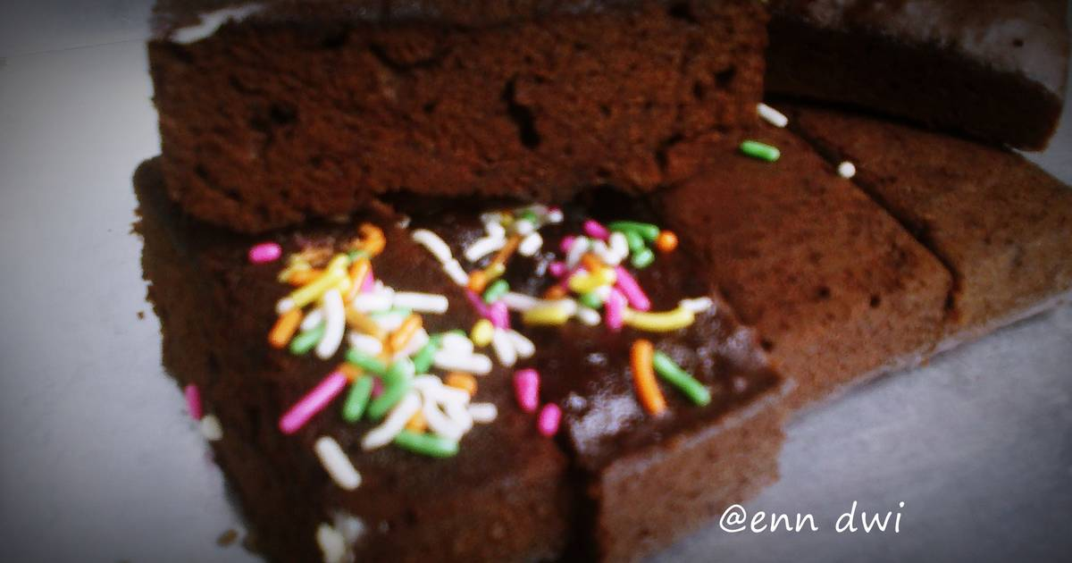 Resep bolu coklat kukus simple ala ala(no mixer )