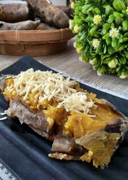 Cheese sweet potatoes