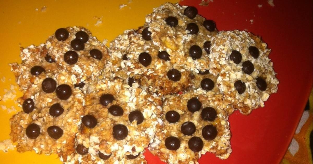 Resep Cookies pisang oatmeal praktis (tanpa telor & mixer)