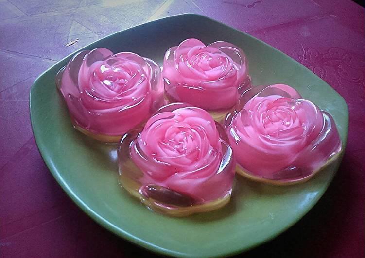 Resep Puding kaca mawar Karya Dara Meaw