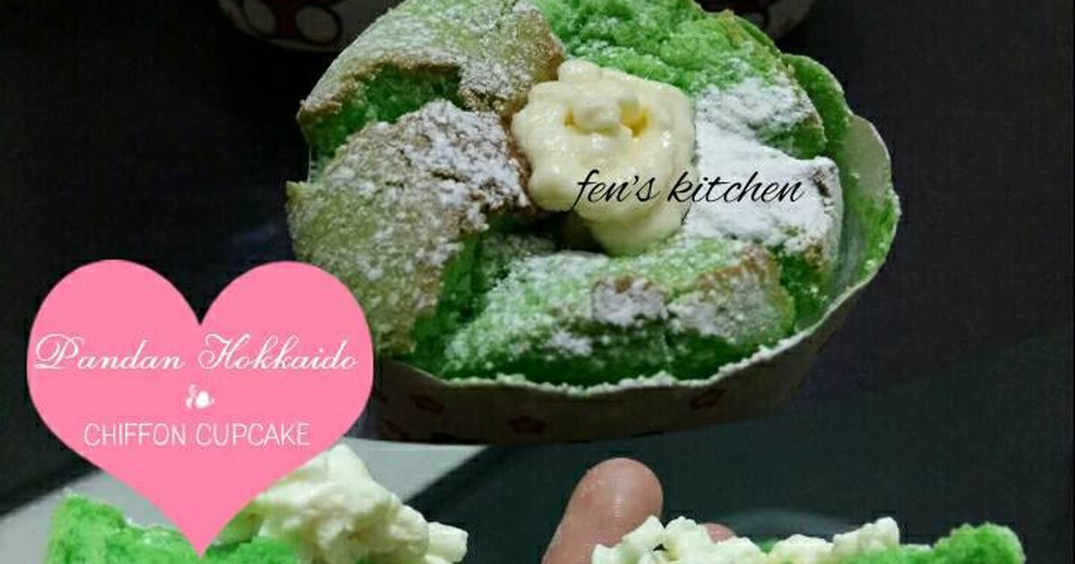 Resep Pandan Hokkaido Chiffon Cupcake