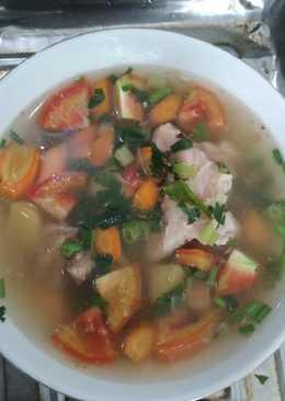 Sayur sop baso daging sapi