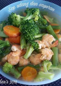 Sop Udang dan Sayuran