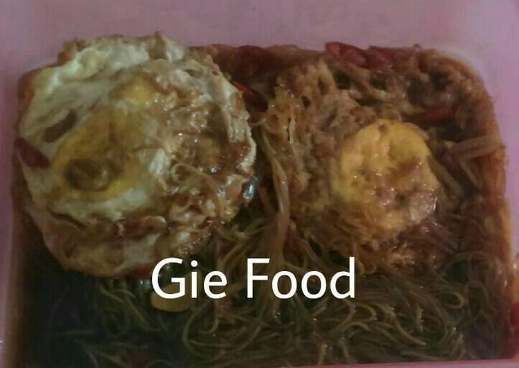 Resep Semur telur ceplok dan soun - gie arti