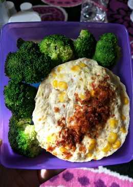Telur dadar ayam kukus (untuk diet)