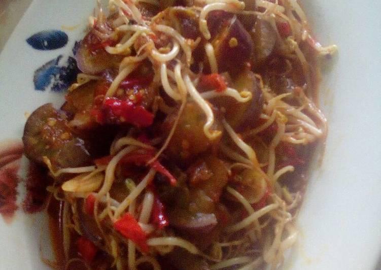 Resep Cah pedas Terong toge Dari Mey's Cila