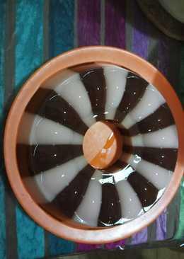 Puding Coklat Stroberi (Puding belang)