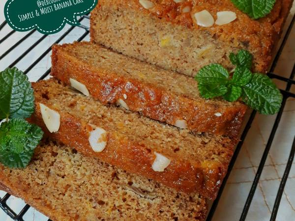 495. Simple & Moist Banana Cake #SeninSemangat