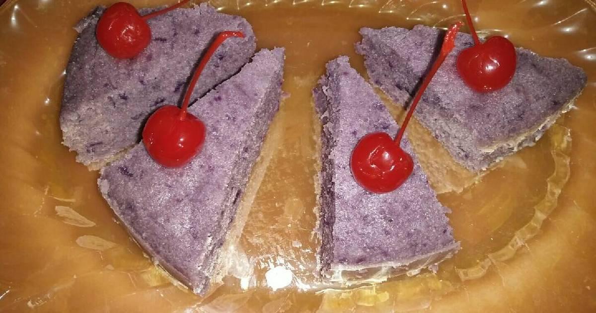 Resep Cake Kukus Ubi Ungu: Resep Brownies Kukus Ubi Ungu Nyoklat Banget No SP Oleh