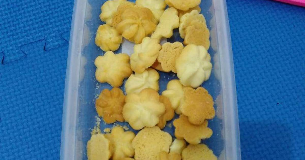 Resep Butter cookies simple (eggless)